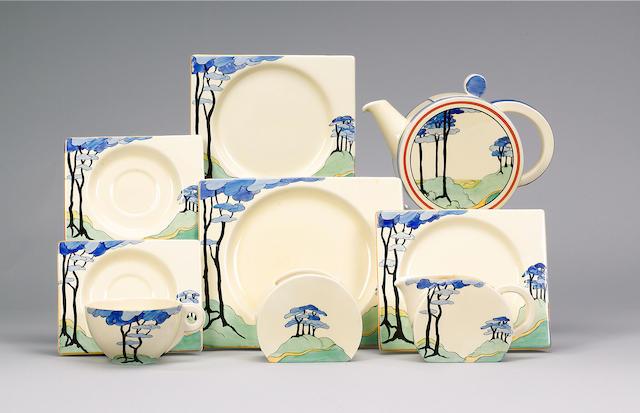 'Blue Firs'  A Biarritz Tea Set
