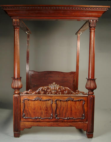 An early Victorian mahogany tester bed