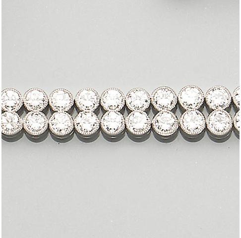 A diamond double-row line bracelet