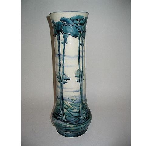 'Florian Landscape' A Large Vase