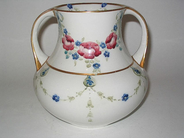 A Macintyre twin-handled vase