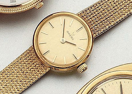 Omega. A lady's 18ct gold wristwatch1960's