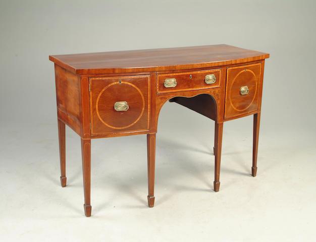A George III mahogany bow front sideboard