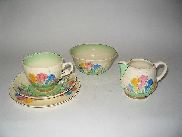 'Pastel Crocus' A Part Tea Set