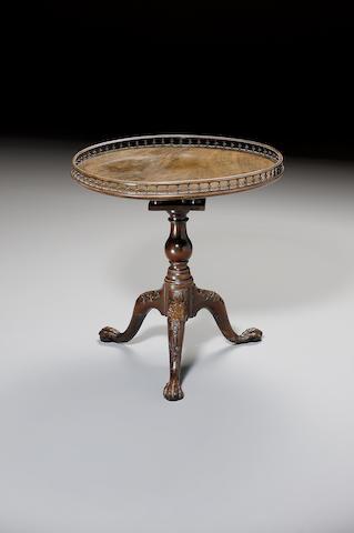 An early George III mahogany Tripod Table,