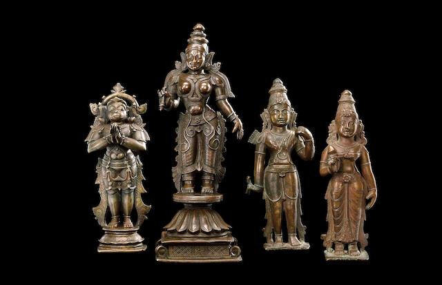 2 Bronze sculptures of Vag and Hanuman