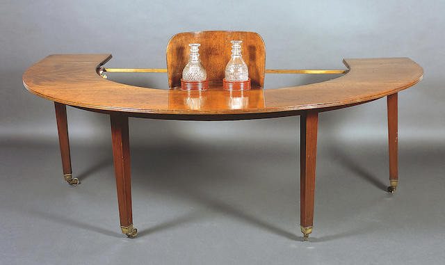 A George III hunt or social table,