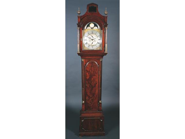 A George III figured mahogany longcase clock,