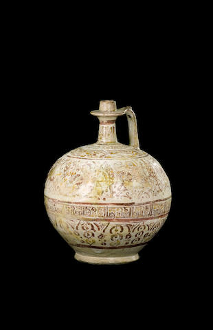 A lustre pottery Bottle Persia, late 12th/ early 13th Century