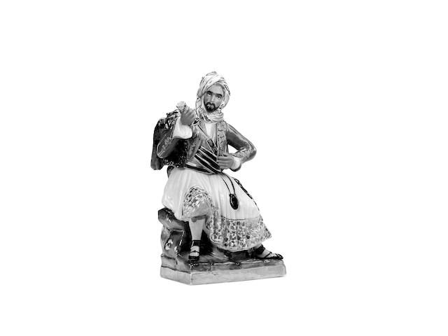 A Paris Porcelain figure of an Ottoman Empire Male