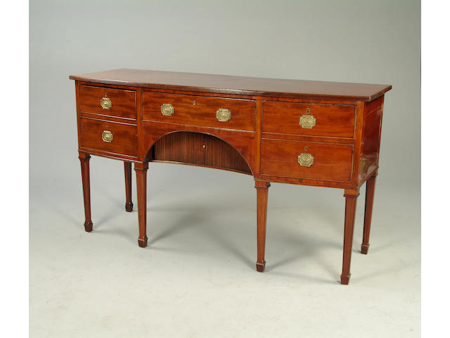 A George III mahogany bow front sideboard