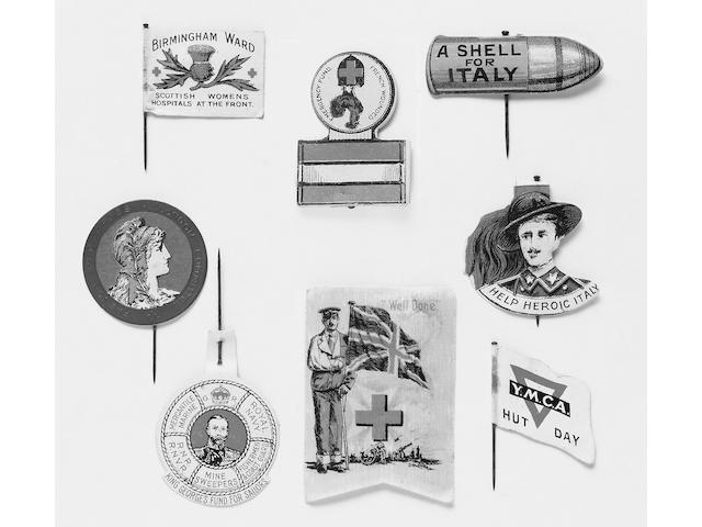 World War One period Flag Day Pins,