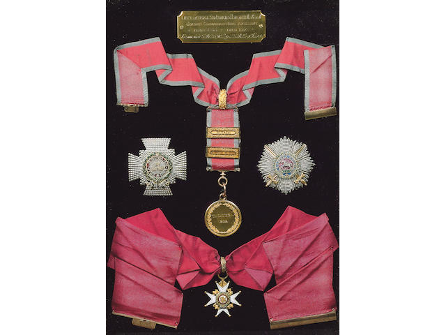 The superb group of Orders and Medals to Lieutenant General Sir Edward Howorth, K.C.B., G.C.H., Commander of the Royal Artillery at the Battle of Talavera,