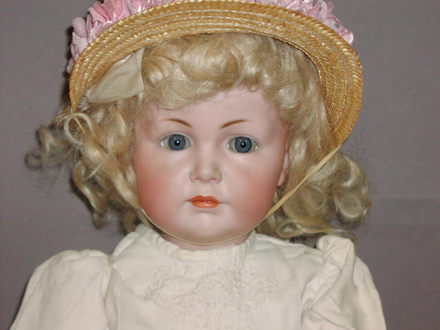 A K&R 117 'Mein Liebling' bisque head character doll, German circa 1911