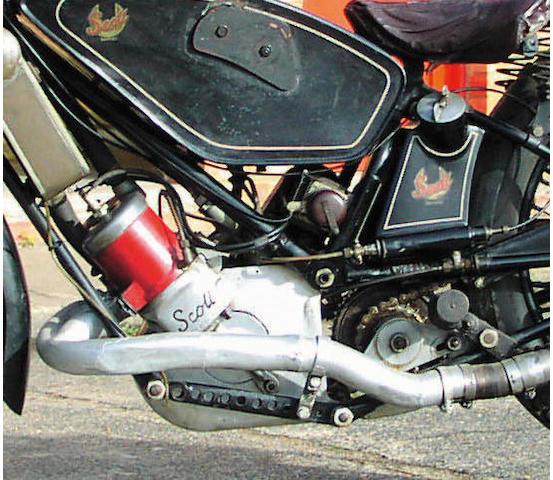 1929 Scott Works T.T. 596cc Machine