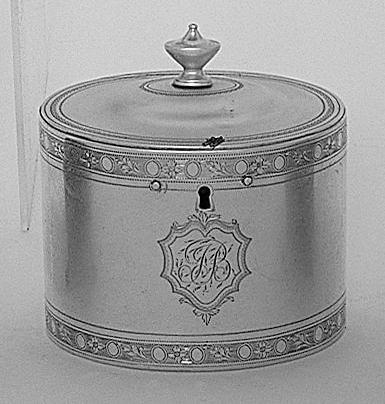 A George III tea caddy, by John Denziloe, 1781,