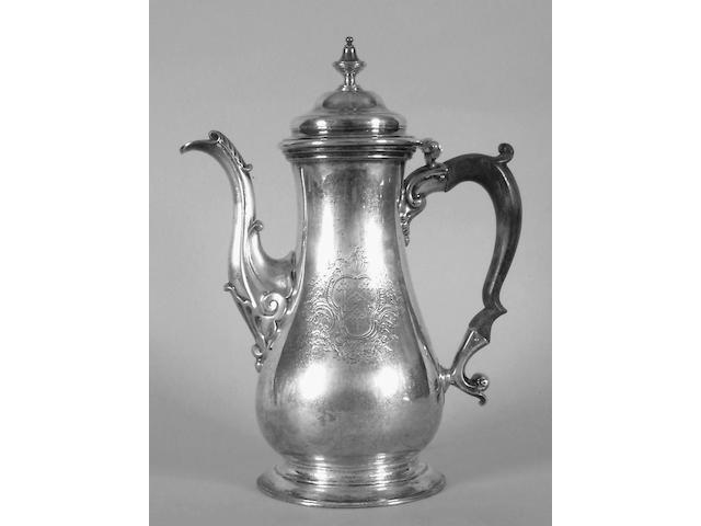 An early George III coffee pot John Payne, 1762,