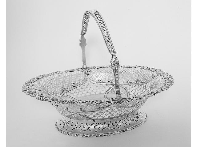 An Irish swing handled basket, probably by Stephen Walsh, Dublin, circa 1770,