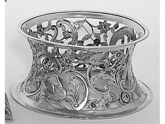 An Irish dish ring, by Wakeley and Wheeler, Dublin, 1904,