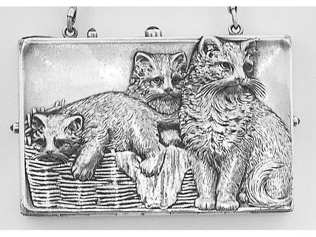 An early 20th Century continental card case/aide memoire,