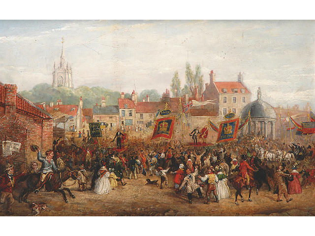 English School, Election for West Norfolk, oil