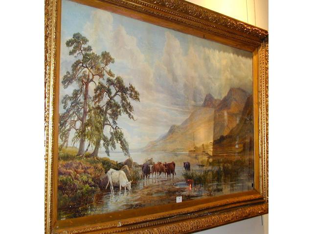 "John Faulkner RHA (c1830-1888) ""On Loch Shiel, Argyllshire"" 74 x 125cm"