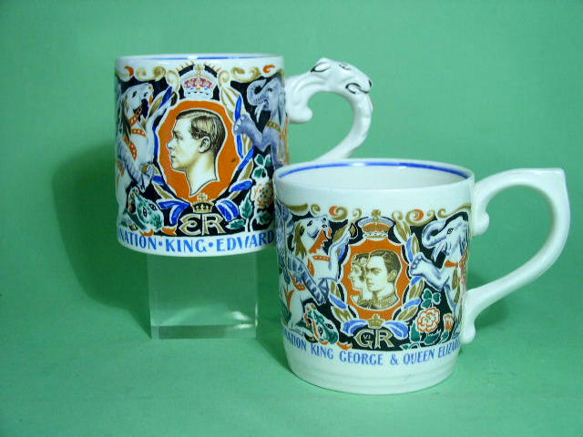 Two Dame Laura Knight commemorative mugs