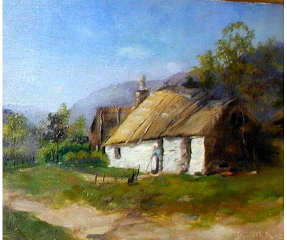 James Stuart Park (1862-1933) A cottage 25.5 x 34cm