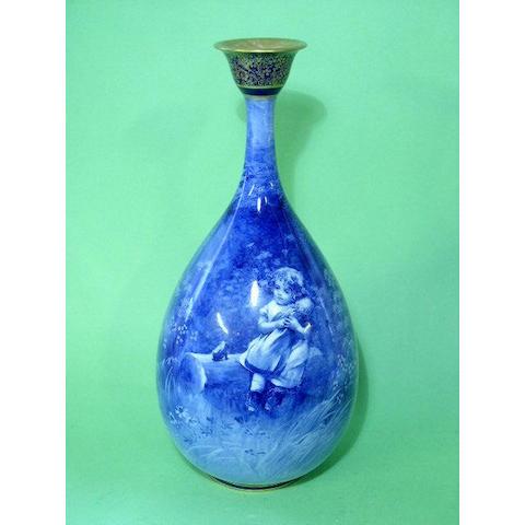 Burslem Items A Royal Doulton 'Blue Children' vase