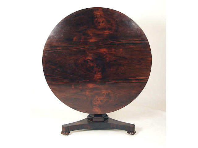 A mid Victorian rosewood loo table,
