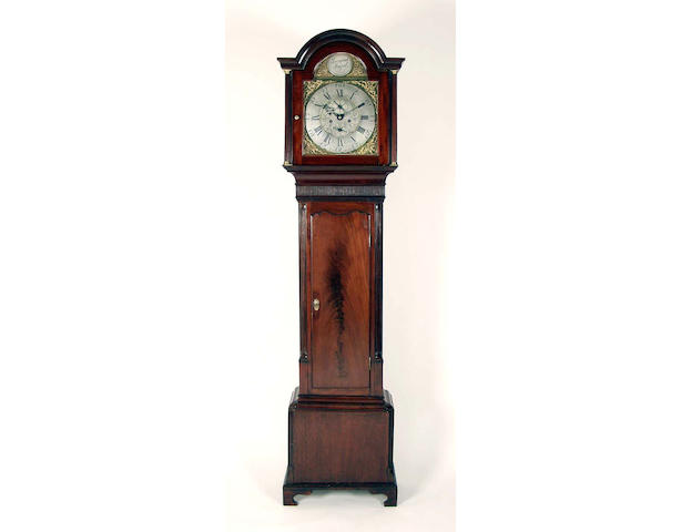 A mahogany cased eight day longcase clock,