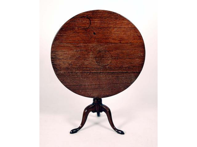 A 19th Century oak wine table,