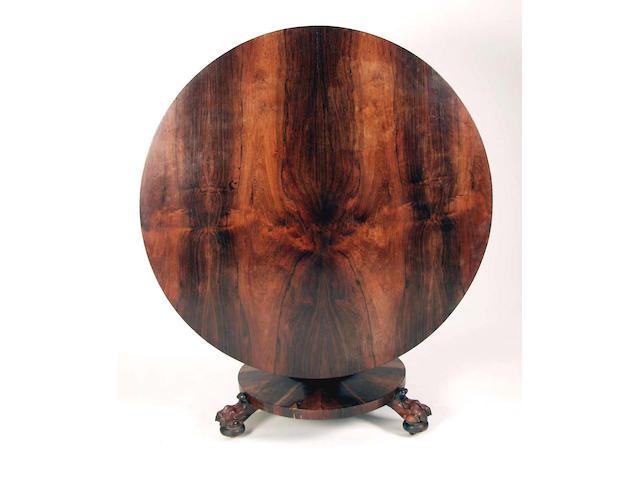 A Regency rosewood loo table,