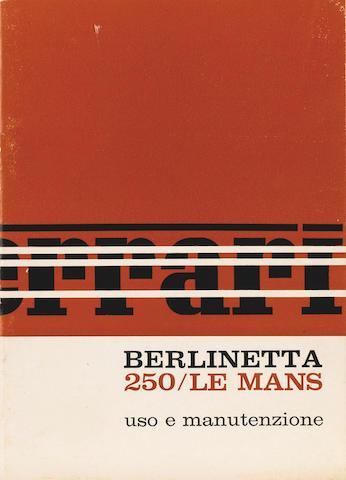 A rare sales brochure for the Ferrari 250 Le Mans