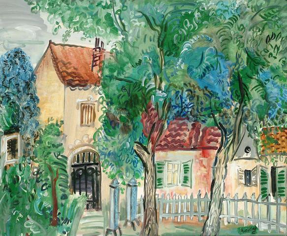 Carlos Nadal (Spanish, 1917-1998) Sainte-Adrese, France 50 x 61cm.