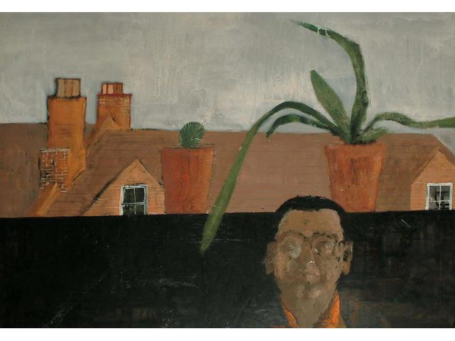 Self portrait with cactus