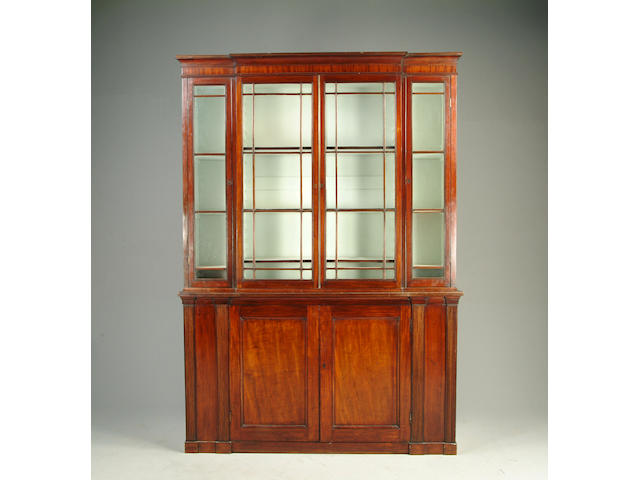 A 19th century mahogany bookcase