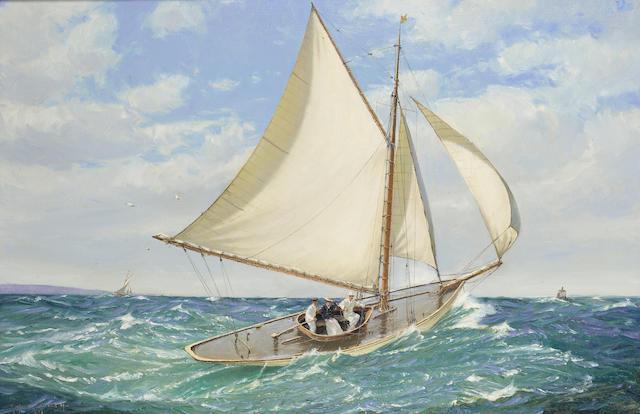 Martyn Richardson Mackrill (British, b. 1962) 'A fresh breeze' 50.8 x 76.2cm. (20 x 30in.)