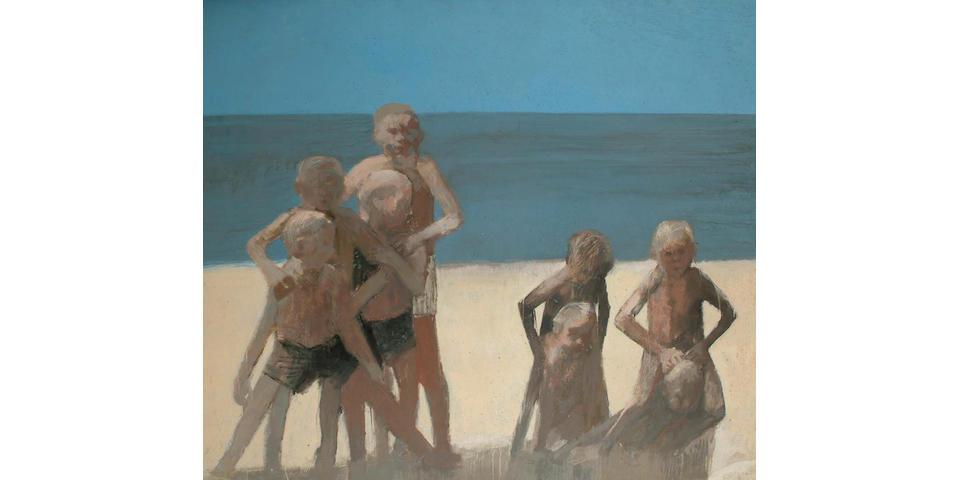 Boys on a beach, Spain 122 x 138cm.