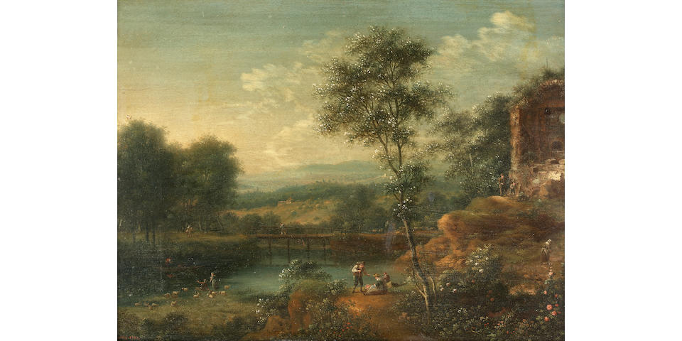 Johann Christian Vollerdt (Leipzig 1708-1769 Dresden) A set of four Rhenish landscapes 27.5 x 37.9 c