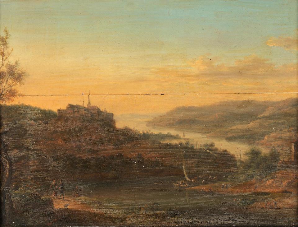 Johann Christian Vollerdt (Leipzig 1708-1769 Dresden) Rhenish landscapes - a set of four 27.5 x 37.9 cm. (10 7/8 x 14 7/8 in.) (4)