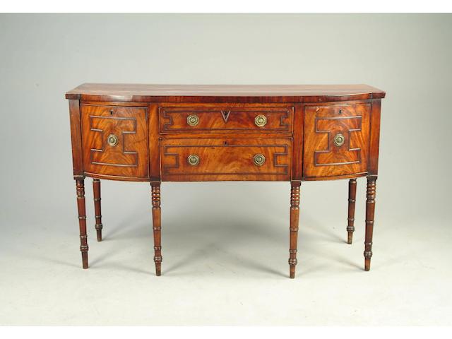A Regency mahogany sideboard