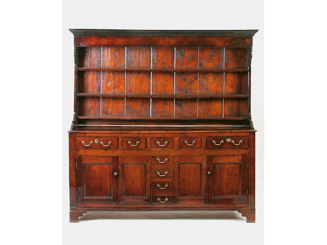 A mid 18th Century oak dresser,