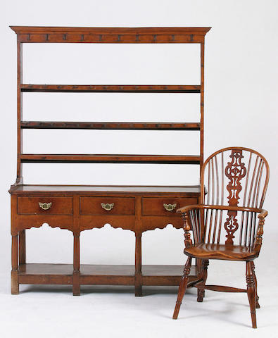 An early 19th Century oak dresser,