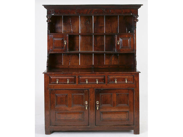 A good mid 18th Century oak high dresser, Denbighshire,