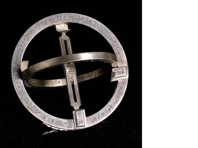 An Important Elias Allen Universal Equinoctial Ring Dial, English,  circa 1635,