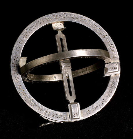 An Important Elias Allen Universal Equinoctial Ring Dial, English,  circa 1635,