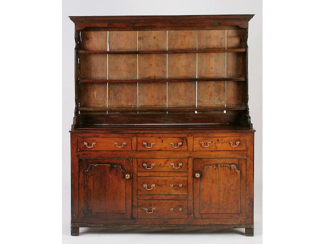 A mid 18th Century oak dresser, North Wales, Conwy,