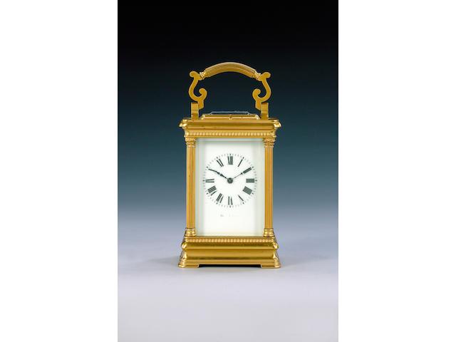 A modern Swiss made brass cased carriage clock,