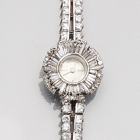 A diamond-set wristwatch by Sarcar